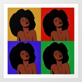 Natural Afro Pop Art Art Print