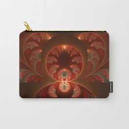 Fractal Mysterious, Warm Colors Are Shining Carry-All Pouch