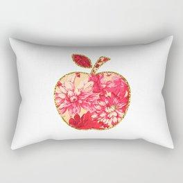 Floral Glitter Apple Rectangular Pillow