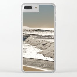 Wave to the wind - strong and powerful Clear iPhone Case