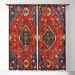 N65 - Colored Floral Traditional Boho Moroccan Style Artwork Blackout Curtain