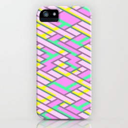 Geometric Lanes and Rectangles iPhone Case