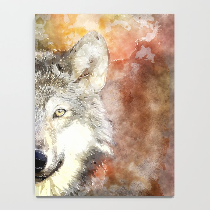 Wolf Animal Wild Nature-watercolor Illustration Notebook