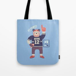 American Football Bear Tote Bag