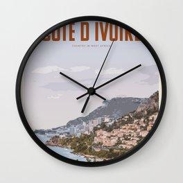 Visit Cote D ivoire Wall Clock