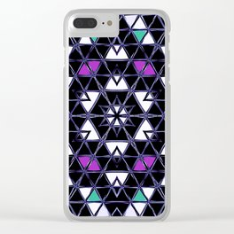 Brilliant Star Triangle Pattern Clear iPhone Case