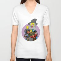elmo V-neck T-shirts featuring Can you tell me how to get to Erebor? by Mhyin