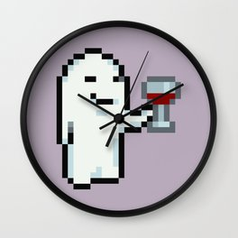 Wine Drinking Ghost - Mother 3 Wall Clock