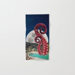 Octopus in the pool Hand & Bath Towel