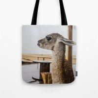 lama Tote Bags featuring Lama by miloezger