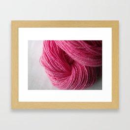 Hot Pink Handspun Wool Yarn Framed Art Print