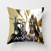 assassins creed Throw Pillows featuring Assassins Creed   by store2u