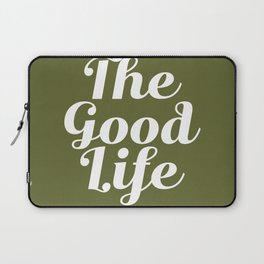 The Good Life - Olive Green and White Laptop Sleeve