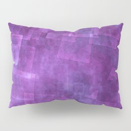 Abstract Purple Squares Digital Painting Pillow Sham