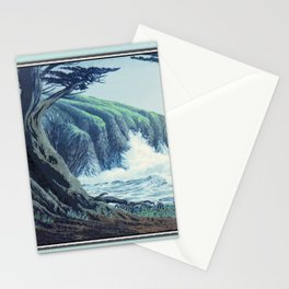 WINDSWEPT CYPRESS TREES ON THE MENDOCINO COAST CALIFORNIA Stationery Cards