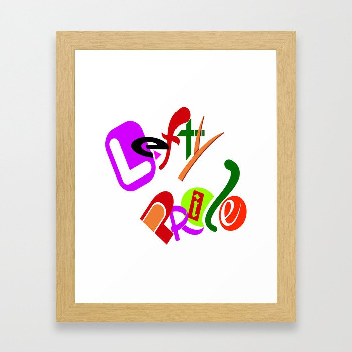 Lefty Pride Framed Art Print