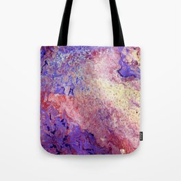 Purple and Red Cosmos Tote Bag