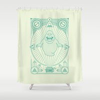 ghostbusters Shower Curtains featuring Slimer Jam by Josh Ln