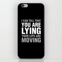 sarcasm iPhone & iPod Skins featuring Sarcasm Quote by JasmineLeflore