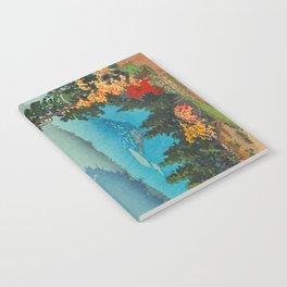 Tsuchiya Koitsu Vintage Japanese Woodblock Print Fall Autumn Mount Fuji Notebook