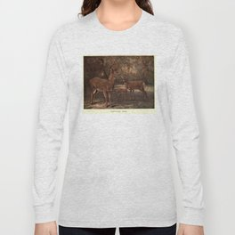 Vintage Virginia Deer Painting (1909) Long Sleeve T-shirt