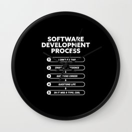 Software Development Process Funny Gift Wall Clock