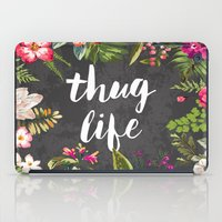 hair iPad Cases featuring Thug Life by Text Guy