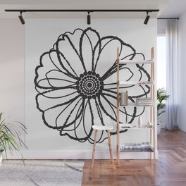 Anemone - Monotone Perennial Wall Mural