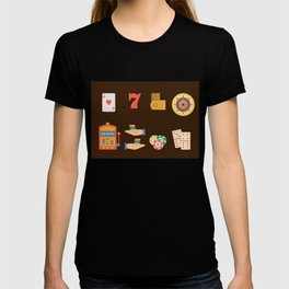 Roulette, Slots, Chips & Cards - Nevada Day T-shirt