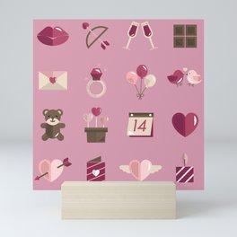 Valentine's Day Pattern Mini Art Print