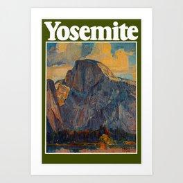 Vintage Yosemite National Park Art Print