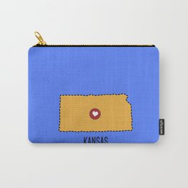 Kansas State Heart Carry-All Pouch