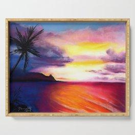 Hanalei Sunset Serving Tray