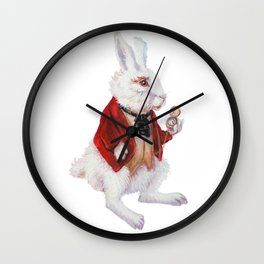 White Rabbit is late Wall Clock