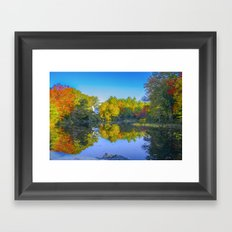 Morning reflection Framed Art Print