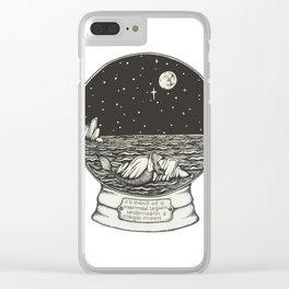 Mermaid Snow Globe Clear iPhone Case