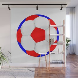 Red White And Blue Football Wall Mural