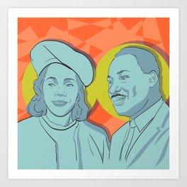 Martin and Coretta Art Print