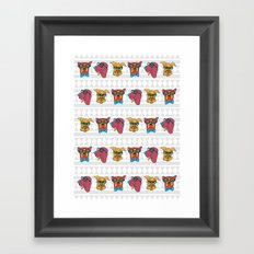 Geek Chic Dogs Framed Art Print
