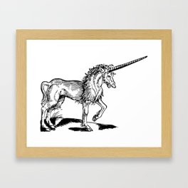 When Unicorns were badass Framed Art Print