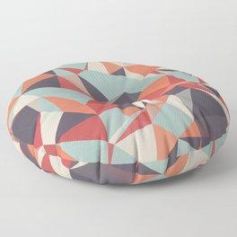 Retro Triangles Fusion Floor Pillow