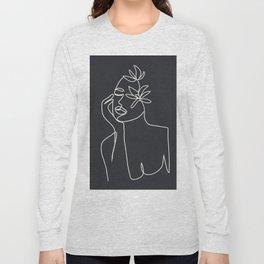 Abstract Minimal Woman III Long Sleeve T-shirt