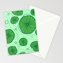 Pattern of stylized design lotus leaves Stationery Cards