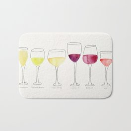 Wine Collection Bath Mat