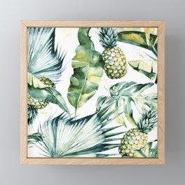 Bahamas - golden Framed Mini Art Print
