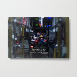 The Point Of Contact Metal Print