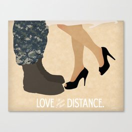 Love is Greater than Distance - Navy Canvas Print