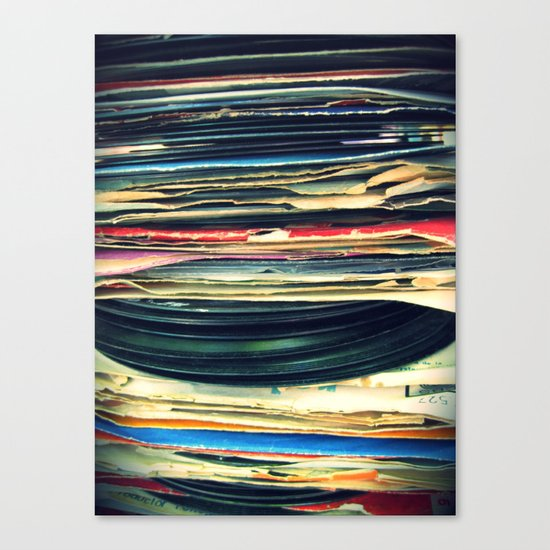 put your records on Canvas Print