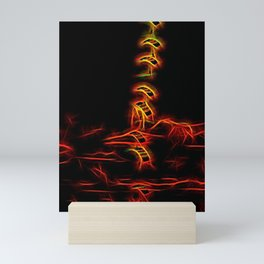 Fiery Falcons Stack Formation Mini Art Print