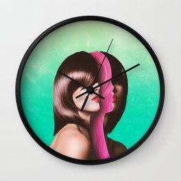 Split Hairs Wall Clock